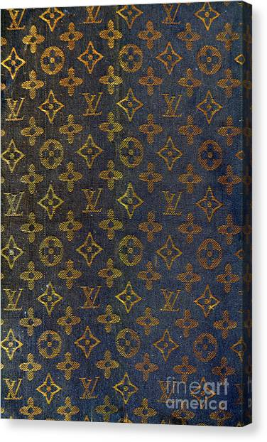 Jimmy Choo Canvas Print - Louis Vuitton Black And Gold Monograms by To-Tam Gerwe