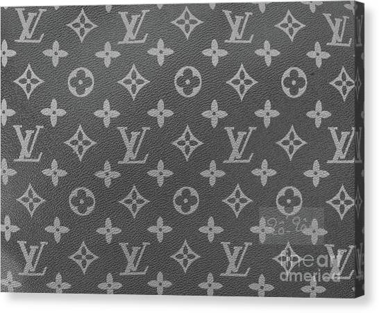 Jimmy Choo Canvas Print - Louis Vuitton Black And White Monogram by To-Tam Gerwe