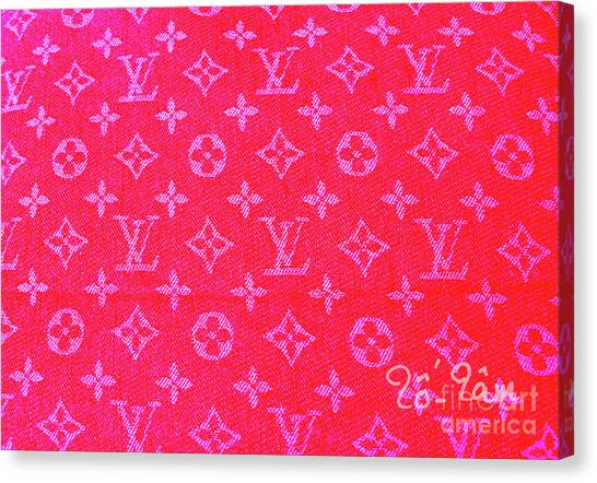 Birthday Gift Canvas Print - Louis Vuitton Hot Pink Monogram by To-Tam Gerwe