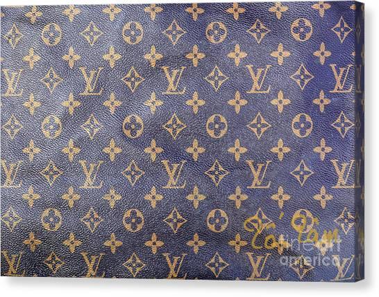 Jimmy Choo Canvas Print - Louis Vuitton Monogram Pattern by To-Tam Gerwe