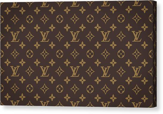 Iphone Case Canvas Print - Louis Vuitton Texture by Zapista Zapista