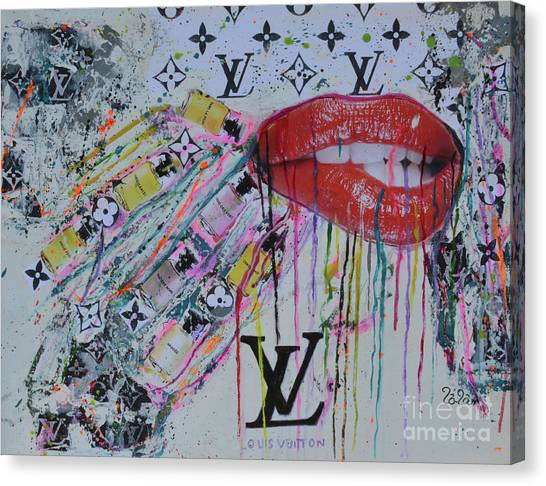 Teeth Canvas Print - Louis Vuitton The Magnificent Seven 3 by To-Tam Gerwe