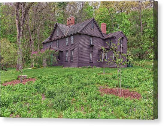 Louisa May Alcotts Orchard House Concord Massachusetts Canvas Print