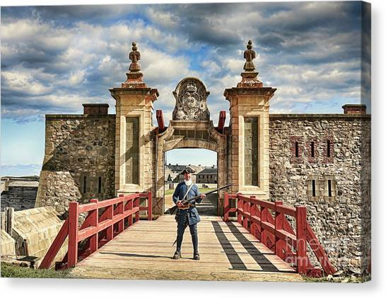 Louisbourg Fortress, Nova Scotia Canvas Print