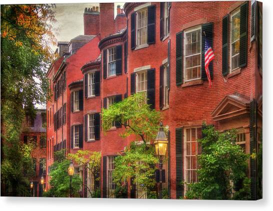 Louisburg Square - Beacon Hill Boston Canvas Print by Joann Vitali