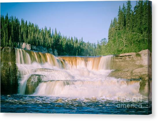 Northwest Territories Canvas Print - Louise Falls by Lisa Killins