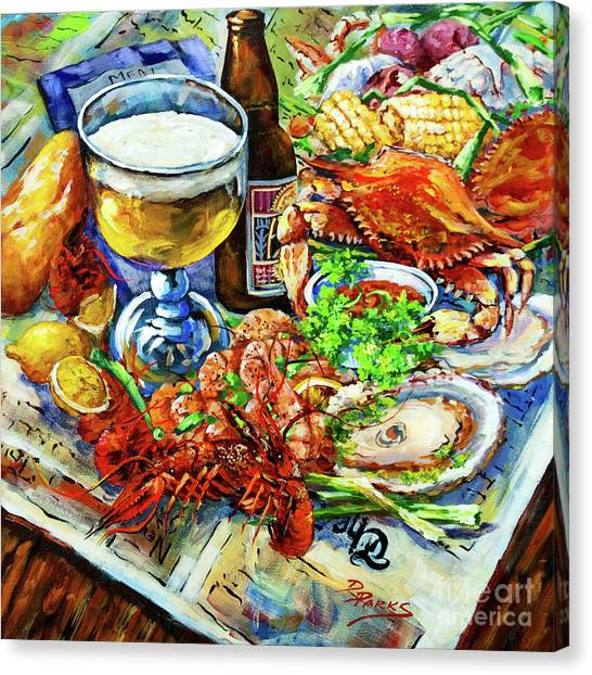 Seafood Canvas Print - Louisiana 4 Seasons by Dianne Parks