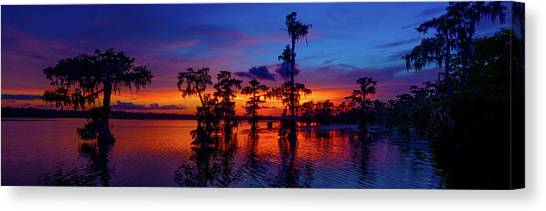 Louisiana Blue Salute Reprise Canvas Print