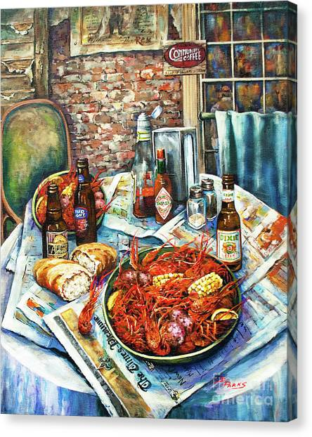 Crabs Canvas Print - Louisiana Saturday Night by Dianne Parks