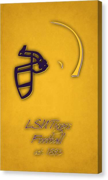 Lsu Canvas Print - Louisiana State Tigers Helmet 2 by Joe Hamilton