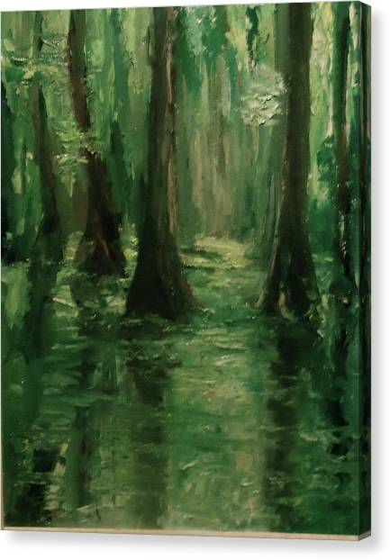 Louisiana Swamp Canvas Print