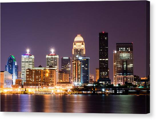 Kentucky Canvas Print - Louisville 1 by Amber Flowers