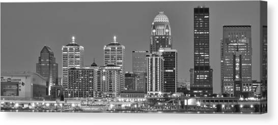 Mammoth Cave Canvas Print - Louisville Black And White Panoramic by Frozen in Time Fine Art Photography