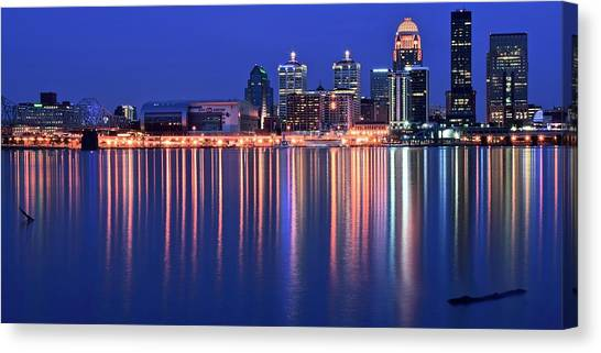 Mammoth Cave Canvas Print - Louisville Lights Up Nicely by Frozen in Time Fine Art Photography
