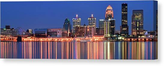 Mammoth Cave Canvas Print - Louisville Panoramic At Blue Hour by Frozen in Time Fine Art Photography
