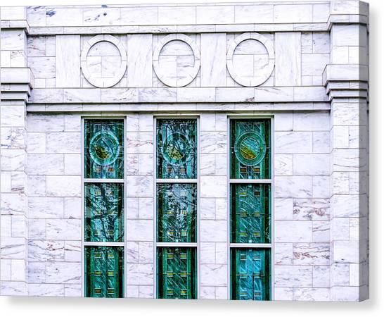 Louisville Temple Details Canvas Print