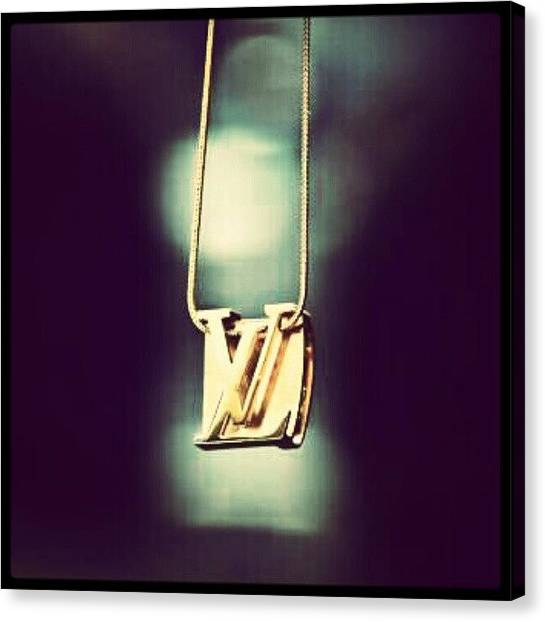 Gold Canvas Print - #louisvuitton Haning On A String by Mary Carter