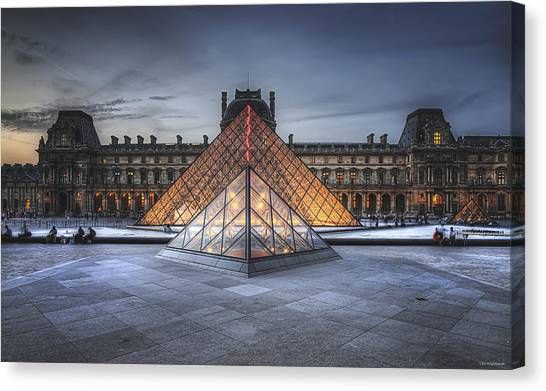Louvre At Dusk Canvas Print