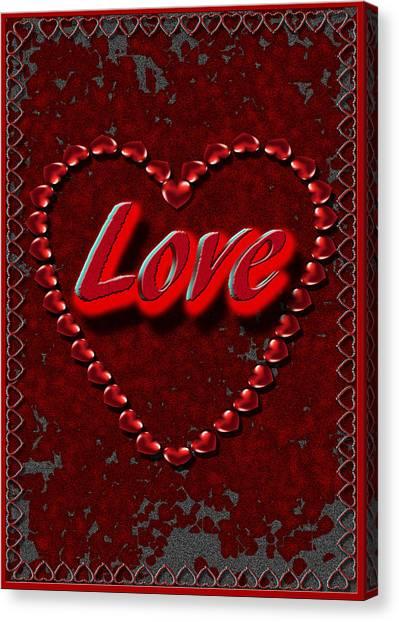 Canvas Print featuring the digital art Love 101 by Michelle Audas
