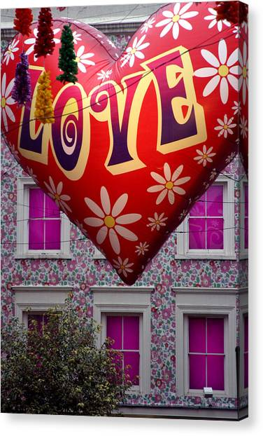 Love Above Canvas Print by Jez C Self