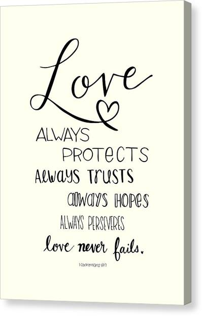 Love Always Canvas Print