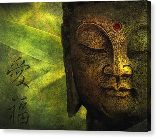 Bamboo Canvas Print - Love And Happiness by Joachim G Pinkawa