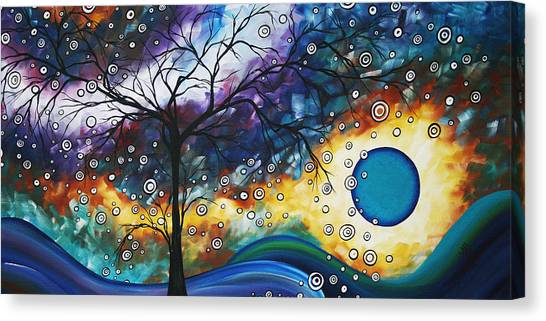 Amber Canvas Print - Love And Laughter By Madart by Megan Duncanson