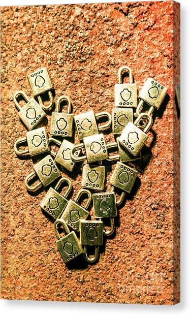 Lock Canvas Print - Love And Locks by Jorgo Photography - Wall Art Gallery