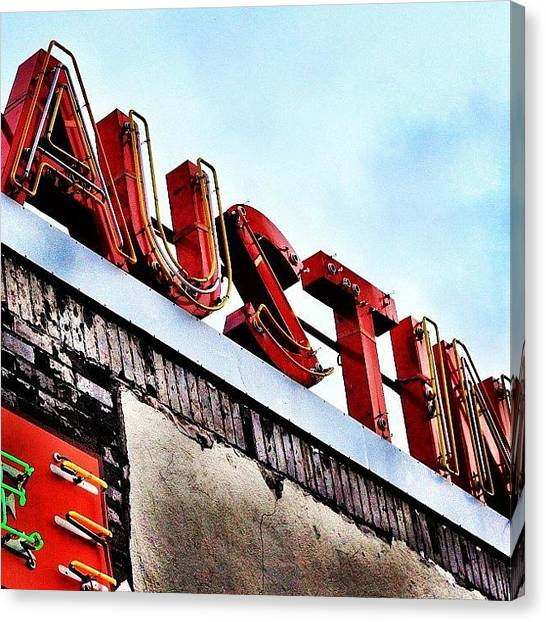 Austin Canvas Print - Love #austin by Things To Do In Austin Texas