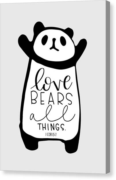 Care Bears Canvas Print - Love Bears All Things by Nancy Ingersoll
