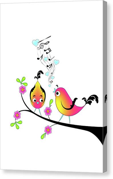 Love Bird Serenade Canvas Print
