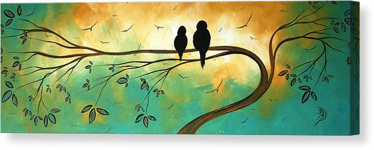Canvas Print - Love Birds By Madart by Megan Duncanson