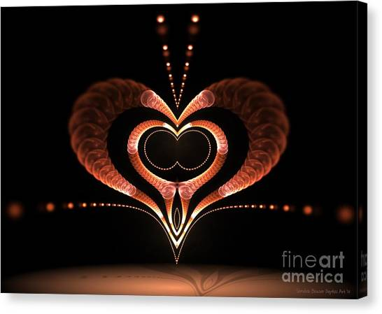 Canvas Print featuring the digital art Love Bug by Sandra Bauser Digital Art