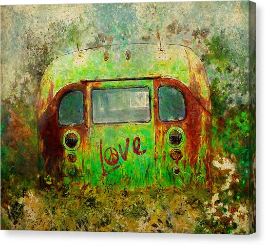 Love Bus Canvas Print