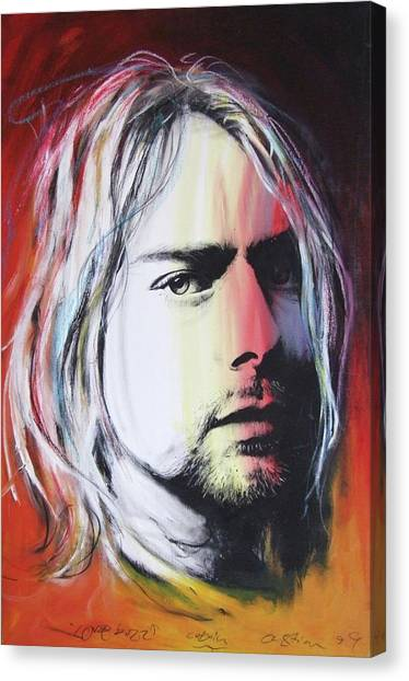 Kurt Cobain Canvas Print - Love Buzz by Christian Chapman Art