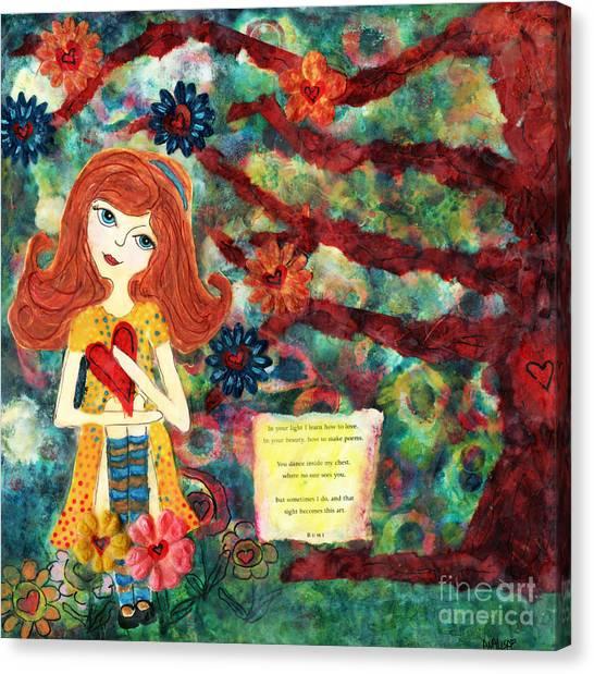 Love Creates Art Canvas Print