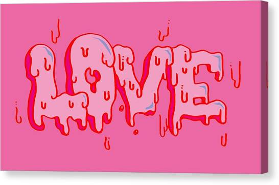 Graffiti Walls Canvas Print - Love by East village mountain