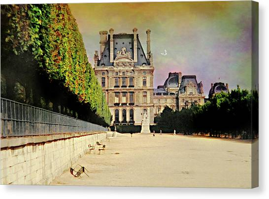 Le Louvre Canvas Print - Love For The Louvre by Diana Angstadt