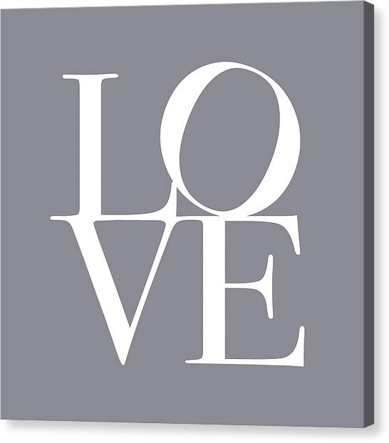 Grey Canvas Print - Love In Grey by Michael Tompsett