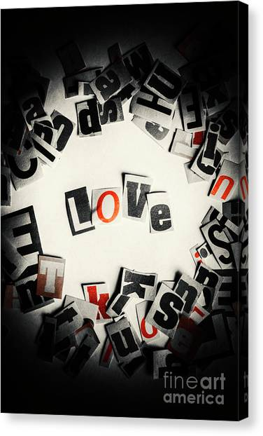 Type Canvas Print - Love In Letters by Jorgo Photography - Wall Art Gallery