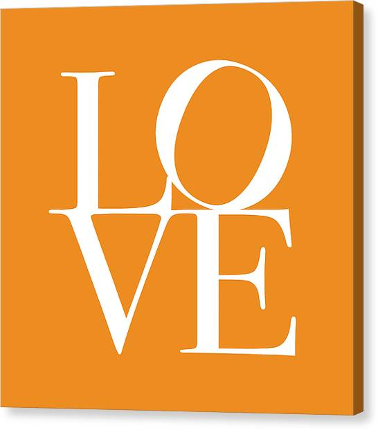 Anniversary Canvas Print - Love In Orange by Michael Tompsett