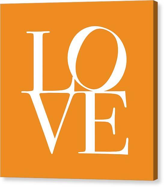 Kiss Canvas Print - Love In Orange by Michael Tompsett