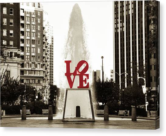 Philadelphia Canvas Print - Love In Philadelphia by Bill Cannon