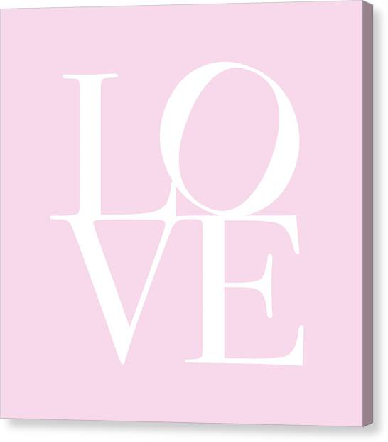 Love Canvas Print - Love In Pink by Michael Tompsett