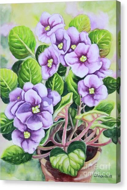 Love In Purple 1 Canvas Print