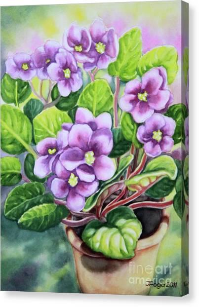 Love In Purple 2 Canvas Print