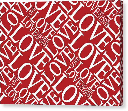 Kiss Canvas Print - Love In Red by Michael Tompsett