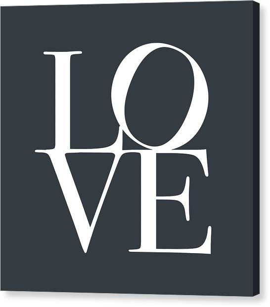 Anniversary Canvas Print - Love In Slate Grey by Michael Tompsett