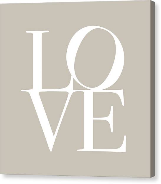 Anniversary Canvas Print - Love In Taupe by Michael Tompsett
