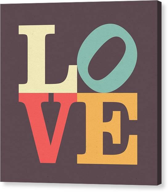 Wedding Gift Canvas Print - Love Poster by Zapista Zapista